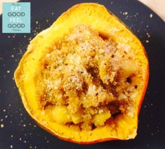 Quinoa Sausage Apple Stuffed Acorn Squash