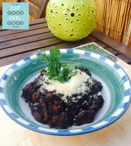 Sweet Potatoes Black Risotto