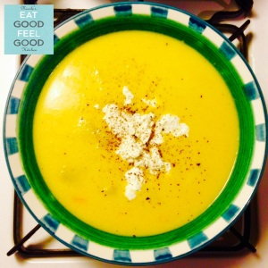 Creamy Pumpkin & Sweet Potato Soup