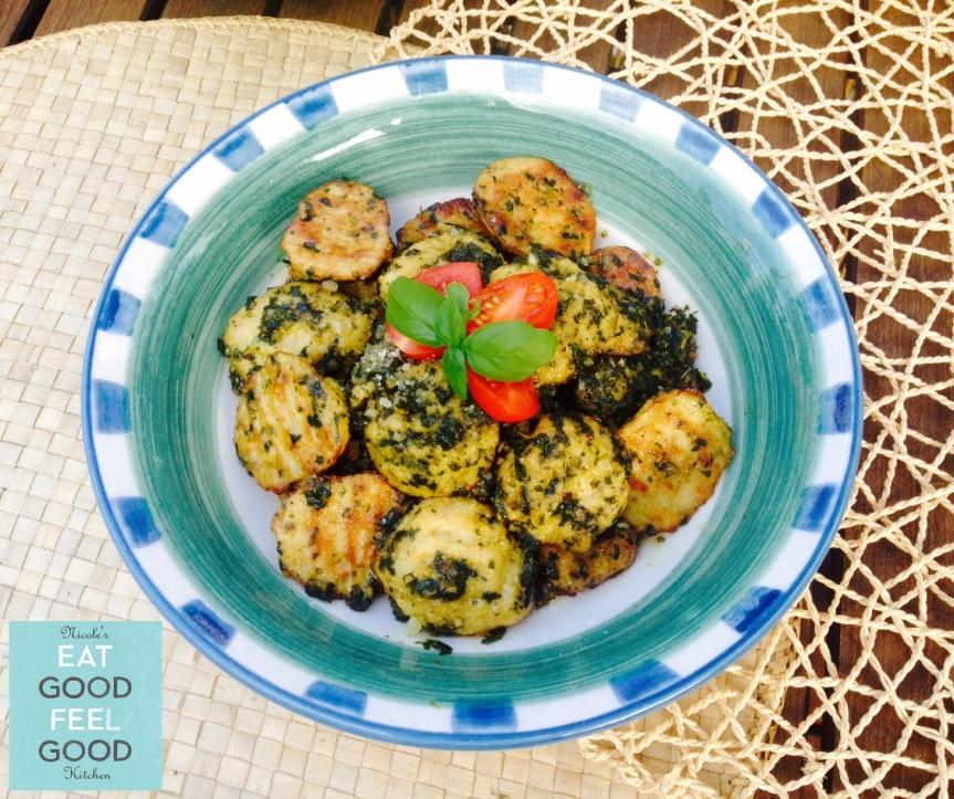 Gluten Free Cauliflower Gnocchi with Pesto Sauce