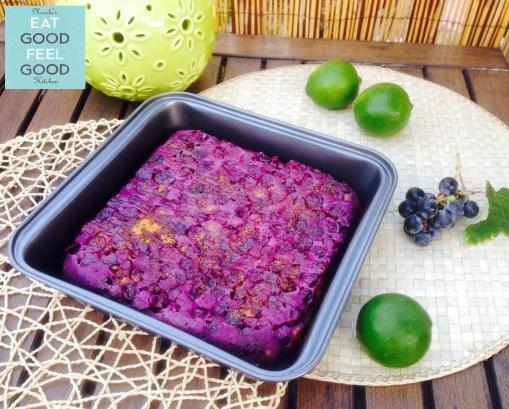 Coconut Flour & Concord Grapes Clafoutis